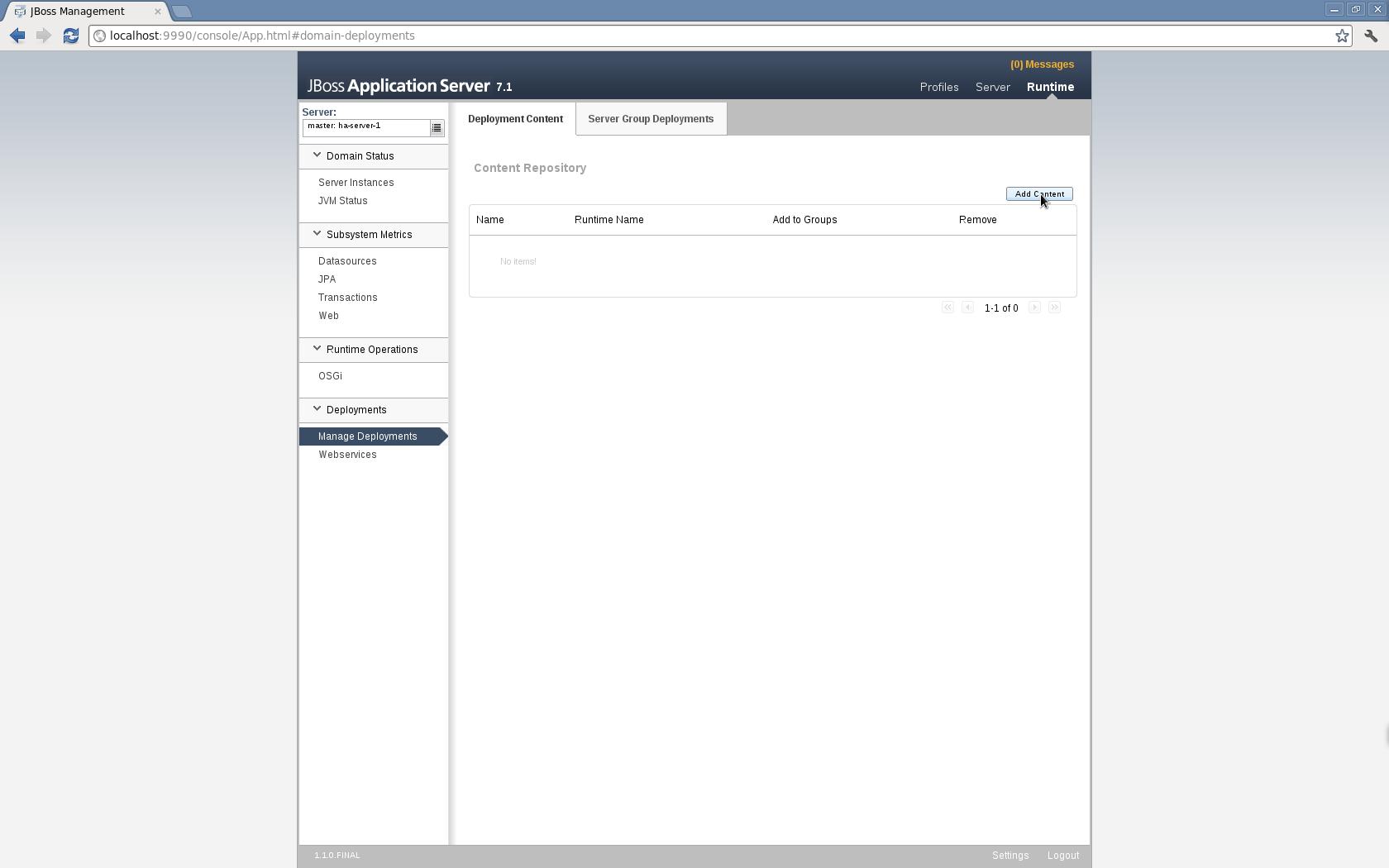 How to create cluster in JBoss AS 7 1 in domain mode? « JBoss
