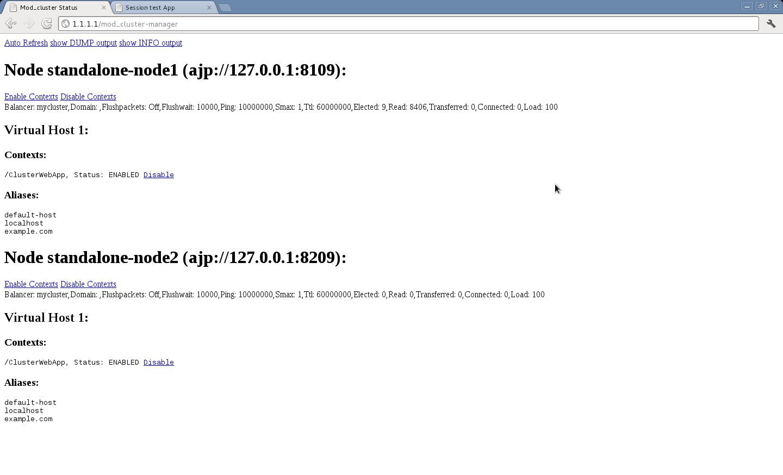Using mod_cluster with JBoss AS 7 1 cluster « JBoss
