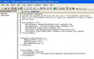 Adding Virtual Directory in APache Configuration