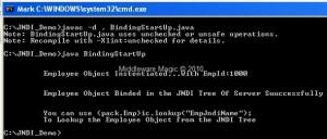 Binding Employee Object In JNDI Tree