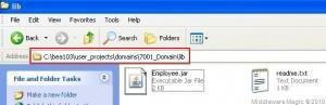 Pasting Employee.jar in Domain Lib directory