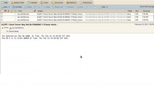 Email Alert Server State
